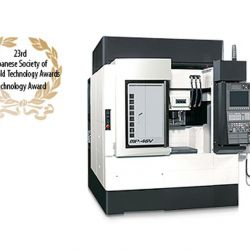 Product News BACK Technology used in the MP-46V, Okuma's vertical machining center for high-precision parts and dies/molds, wins Technology Award at 23rd Japanese Society of Die/Mold Technology Awards